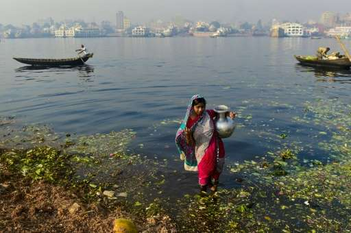 Water consumption in greater Dhaka, home to some 18 million people, is lowering the local water table by more than three metres