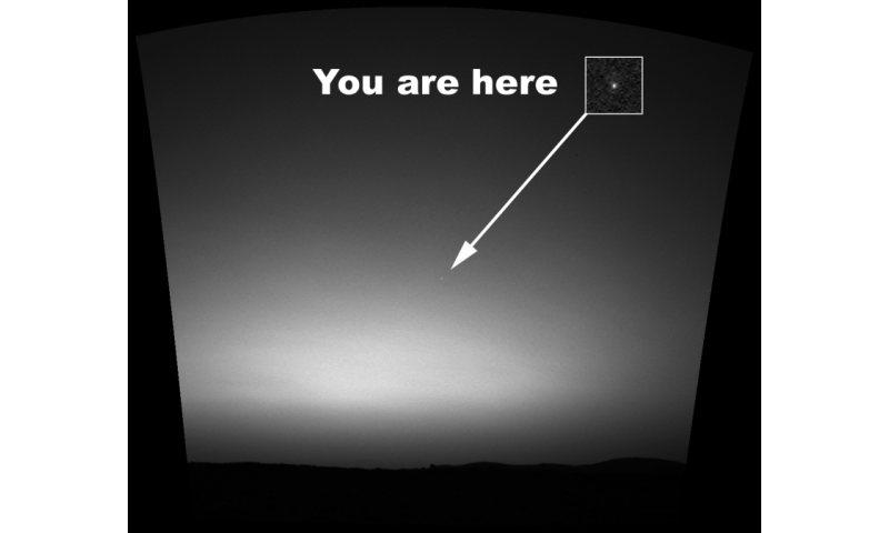 What does Earth look like from Mars?