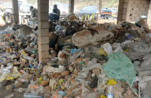 With plastic bags and bottles routinely cast away in the Cameroon, the waste clogs up rivers, litters roads and blocks gutters