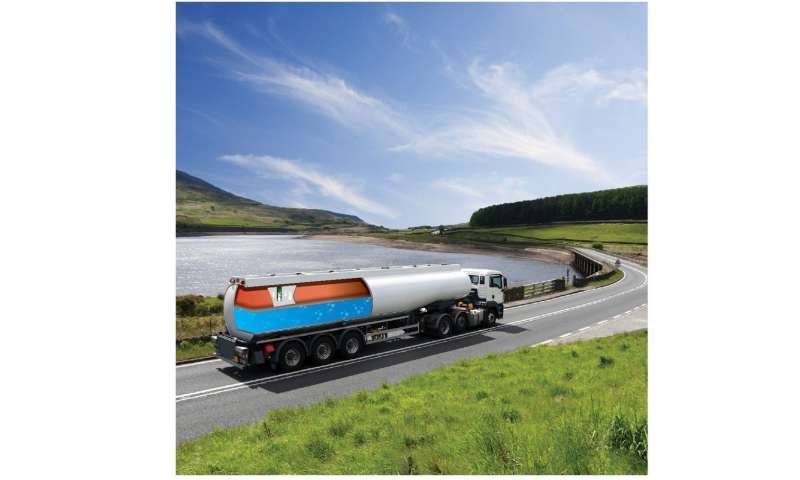 Airbag prevents tanker trucks from tipping over
