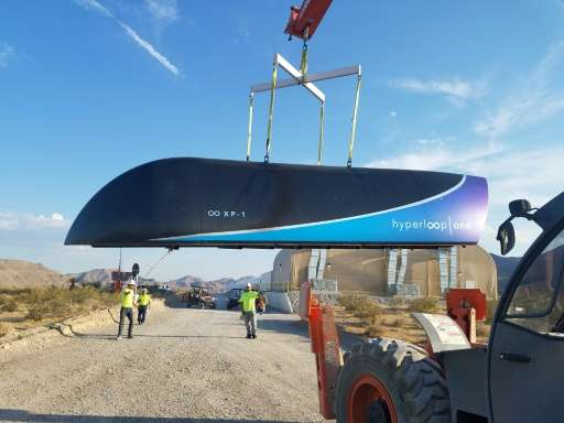 A prototype of the Hyperloop One pod, seen in a July file picture, which passed another key milestone in the startup's quest for