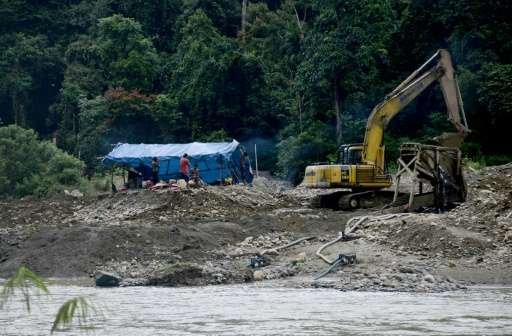 Authorities in Sumatra's Jambi province, which has one of the biggest concentrations of illegal mining sites in Indonesia, have