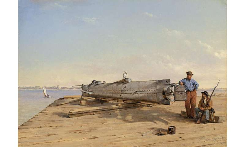 Confederate submarine crew killed by their own weapon