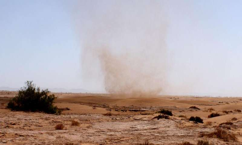 Devilish source of dust in atmosphere of Earth and Mars