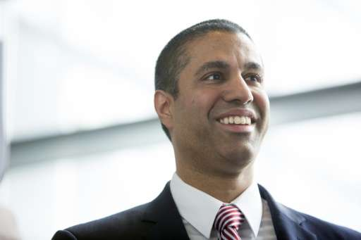 Federal Communications Commission Chairman Ajit Pai  at an internet regulation event at the Newseum in Washington, DC on April 2