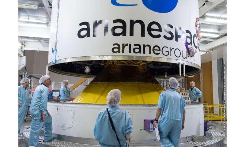 Galileo satellites atop rocket for next Tuesday's flight