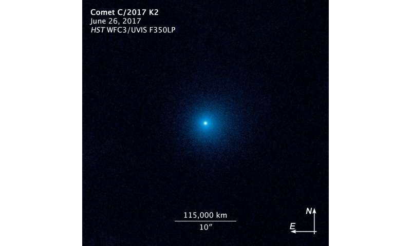 Hubble observes the farthest active inbound comet yet seen