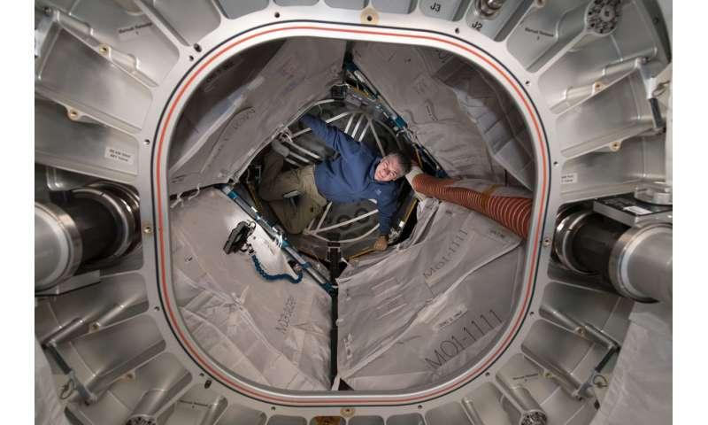 Image: Astronaut Paolo Nespoli in BEAM