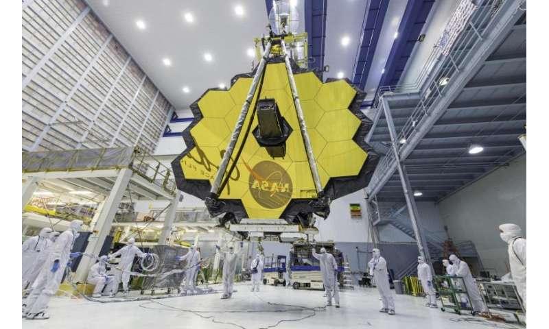 Image: James Webb Space Telescope mirror seen in full bloom