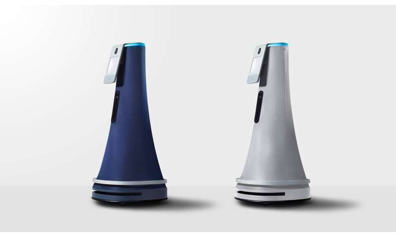 Indoor security robot reads badges, flags open doors and more