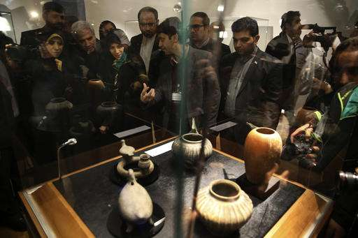 Iran displays ancient Persian artifacts returned from the US