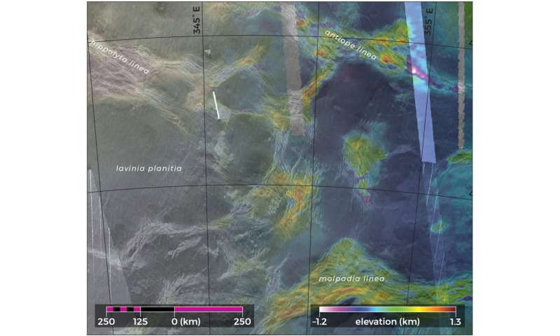Lava-filled blocks on Venus may indicate geological activity