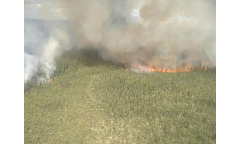Lightning Sparking More Boreal Forest Fires
