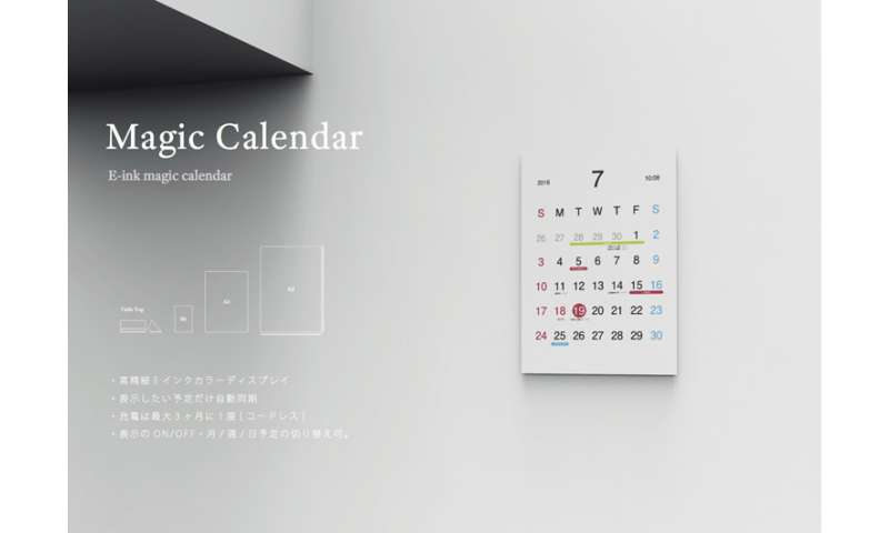 Magic Calendar has e-ink display that evokes paper