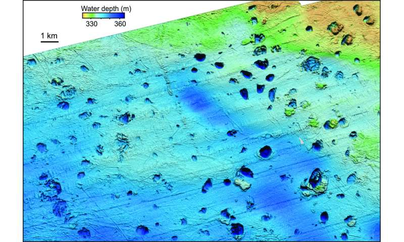 Massive craters formed by methane blow-outs from the Arctic sea floor
