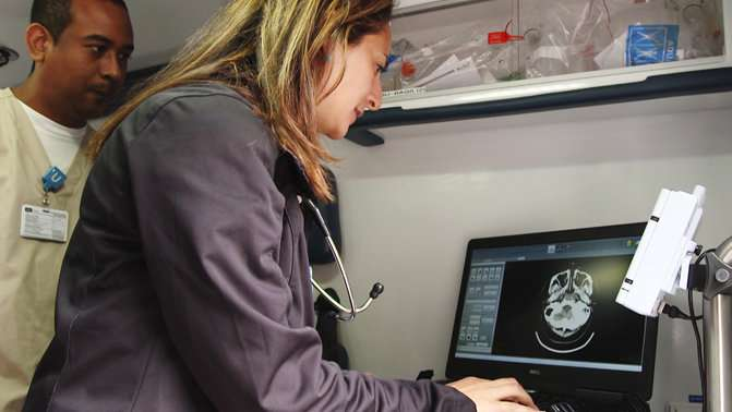 Mobile stroke units designed to quickly reach, treat patients