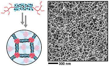 Nanoscientists develop new material with controllable pores