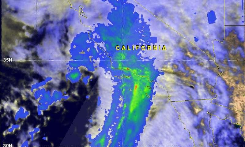 NASA eyes Pineapple Express soaking California