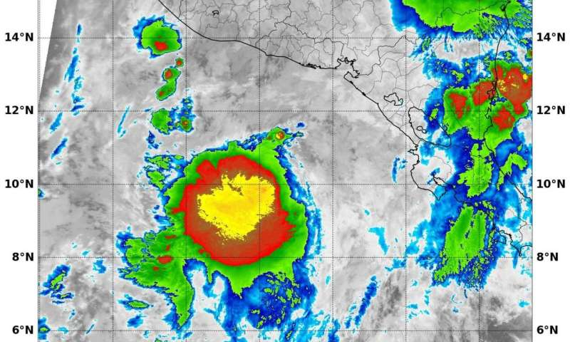 NASA finds new Tropical Storm Selma has heavy rain-making potential