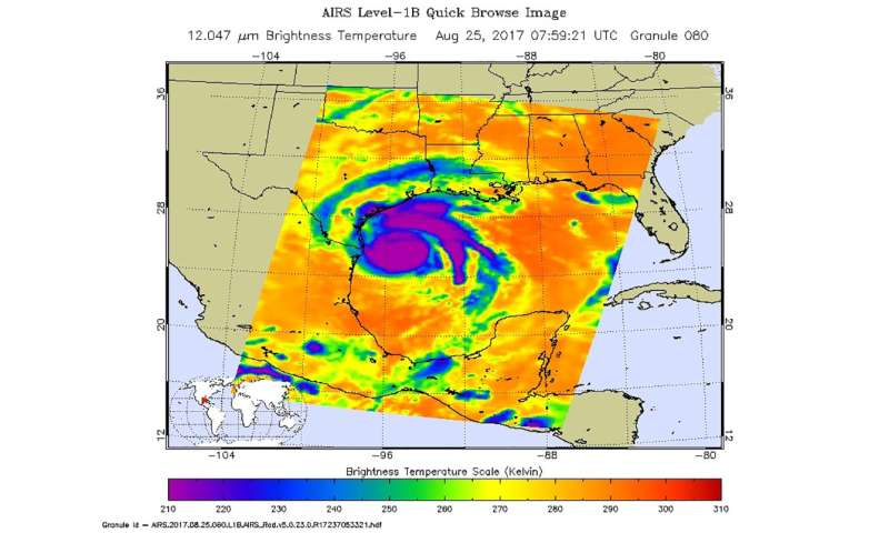 NASA look at Tropical Storm Pakhar in infrared light