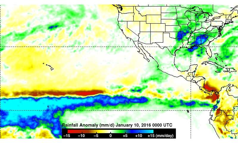NASA sees Pineapple Express deliver heavy rains, flooding to Calif.