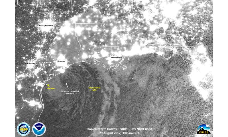 NASA shows how Harvey saturated areas in Texas