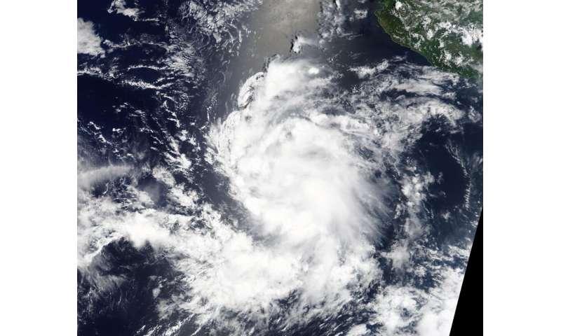 NASA's Terra satellite watching Tropical Storm Greg