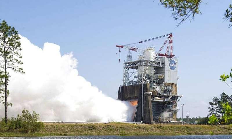 NASA test fires new engine controlling 'brain' for first SLS megarocket mission