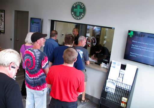 Nevada's on-again, off-again marijuana sales back on