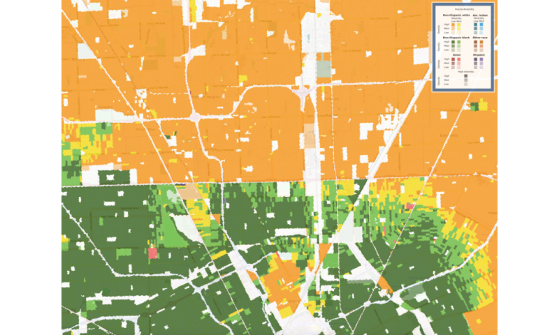New map shows racial diversity of every neighborhood in continental U.S.
