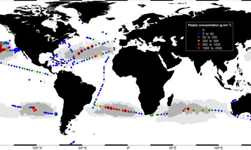 New study helps explain how garbage patches form in the world's oceans