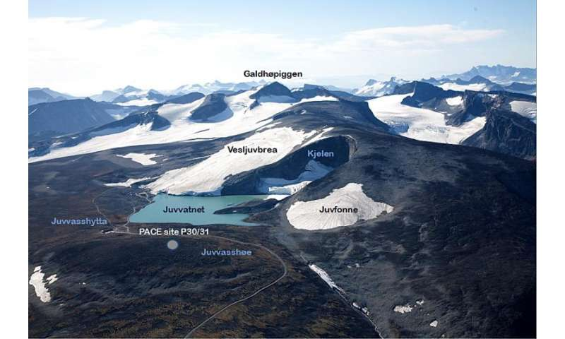 Oldest Norwegian ice located