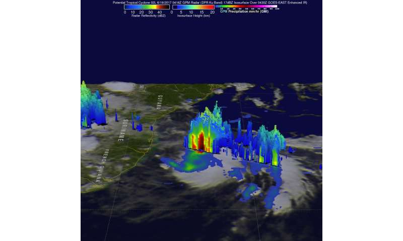 Potential Atlantic Ocean Tropical Cyclone 2 examined by NASA