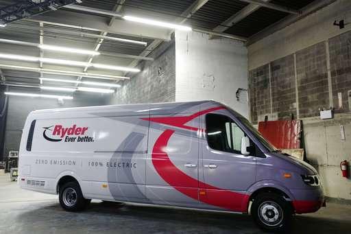 Ryder adds 125 electric vans to its fleet