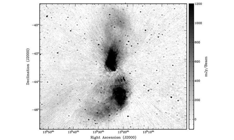 Telescopes team up to study giant galaxy