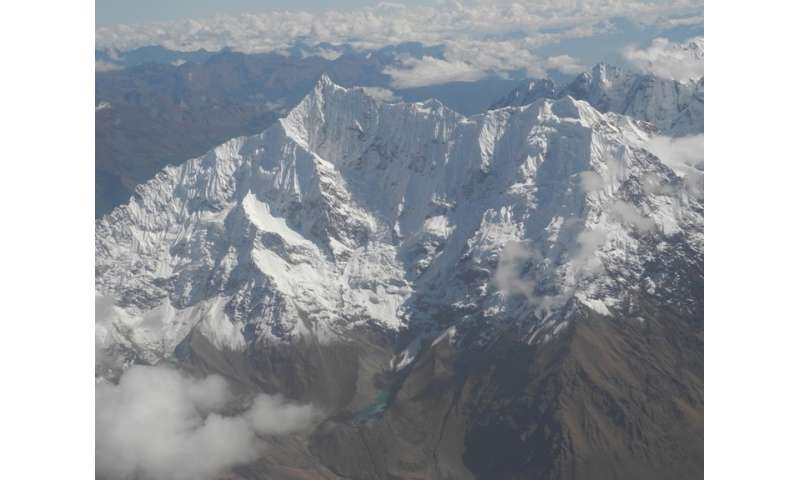 The effects of melting glaciers on tropical communities