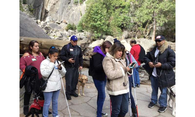 Researchers field testing mobile app for visually impaired at Yosemite National Park