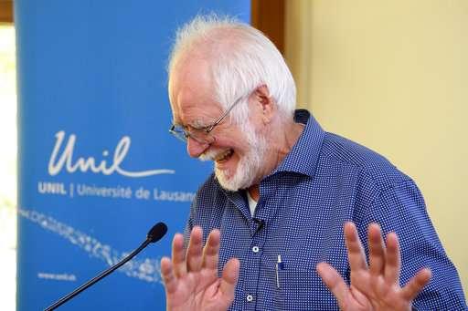 The Latest: Nobel winner 'like Google Earth for molecules'
