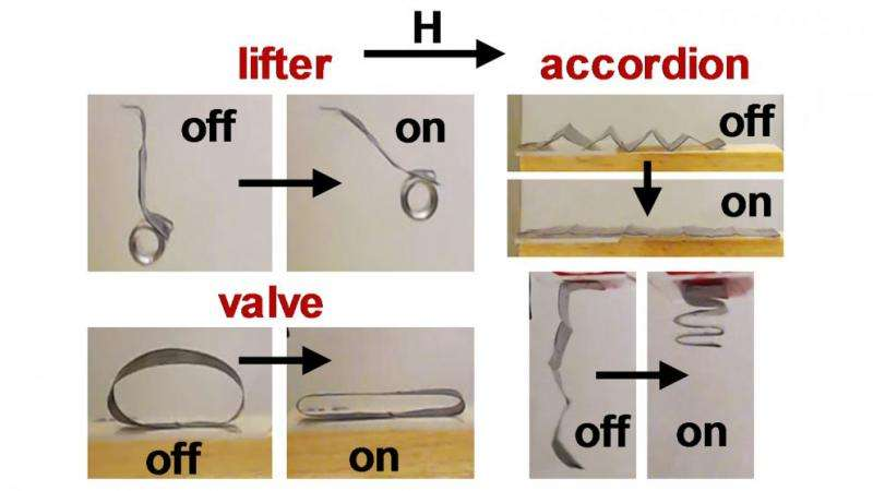 Researchers control soft robots using magnetic fields