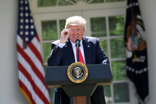 US President Donald Trump delivers a statement on the Paris Climate Agreement