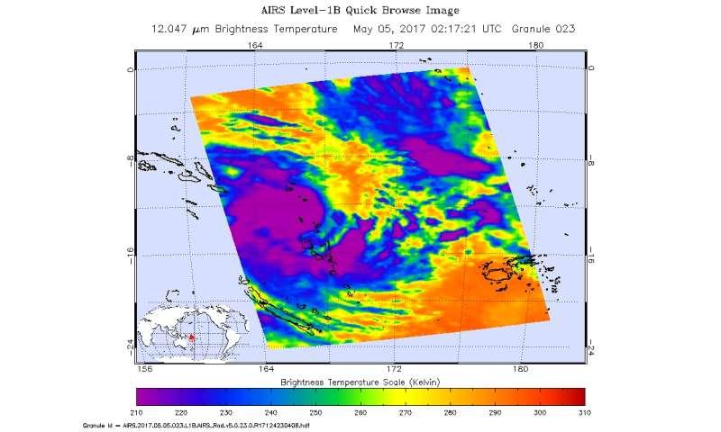 NASA sees Tropical Cyclone Donna blanket Vanuatu
