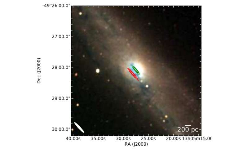 Astronomers detect methanol maser emission towards nearby galaxy