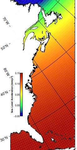 Researchers model differences in East Coast sea level rise