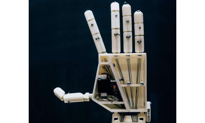 A 3D-printed robotic arm solution designed to assist the deaf