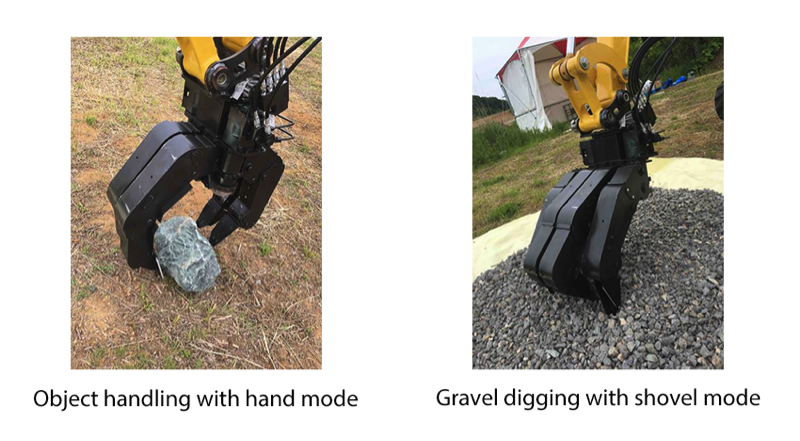 A dual-arm construction robot with remote-control function