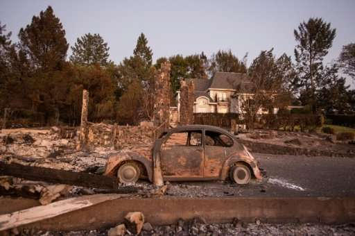 Authorities in northern California say they are still battling 13 major wild fires in a drama that has claimed 42 lives and dest