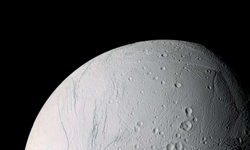 Cassini finds Saturn's moon Enceladus may have tipped over