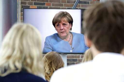 German Chancellor Merkel's favorite emoji is a smiley