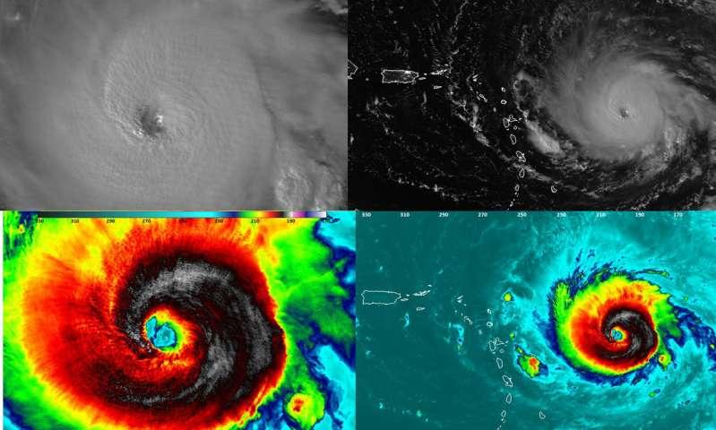 GPM satellite probes dangerous category 5 Hurricane Irma