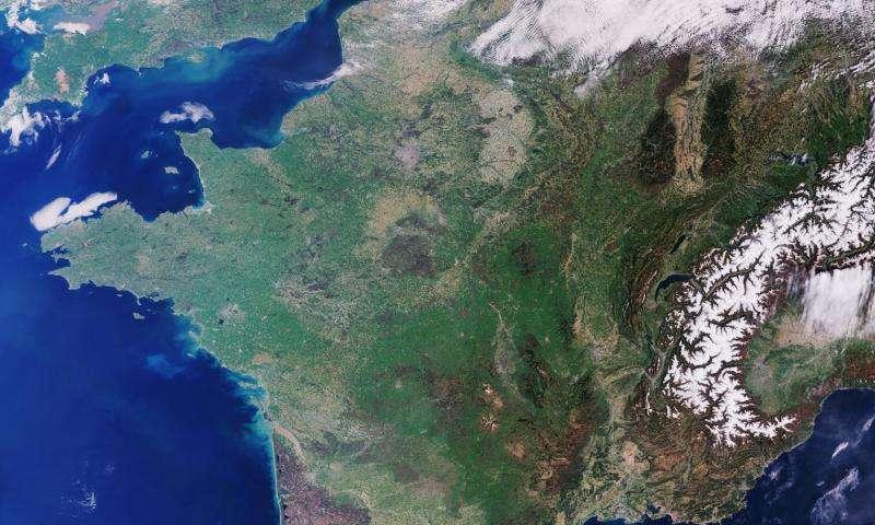 Image: Sentinel-3 over France
